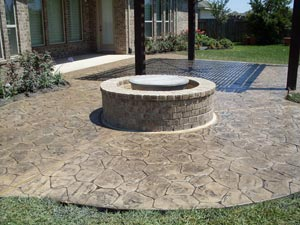 Stamped Concrete Decorative Stamped Services Houston Texas