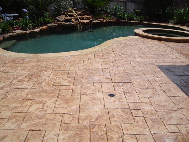 Stamped Concrete Stained Concrete Polished Concrete